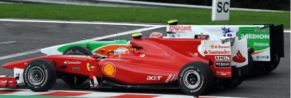 Fernando Alonso e Vitantonio Liuzi